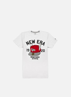New Era - Flying Cap T-shirt, White 1