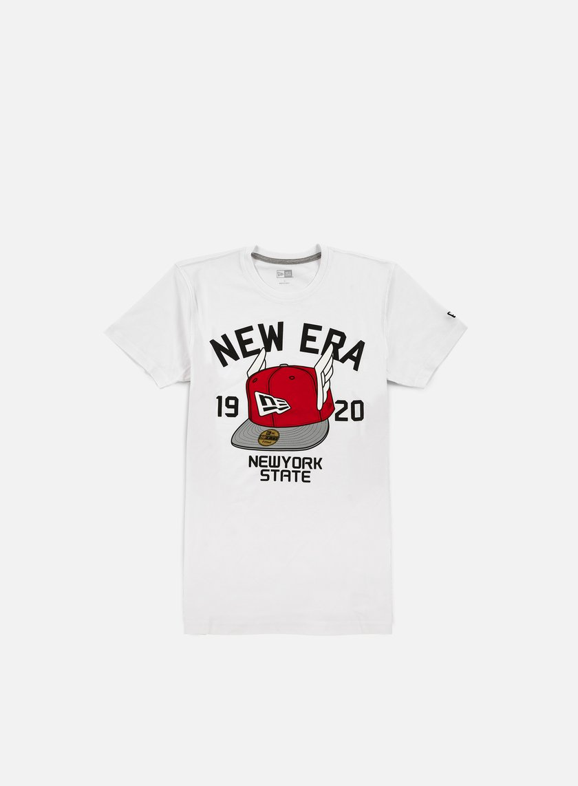 New Era - Flying Cap T-shirt, White