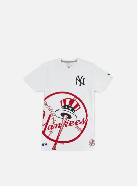 t shirt new era mlb big logo t shirt ny yankees white