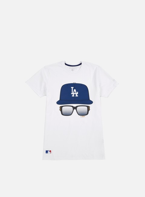 Outlet e Saldi T-shirt a Manica Corta New Era MLB Cap And Glasses T-shirt LA Dodgers