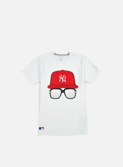Sport Team T-shirts New Era MLB Cap And Glasses T-shirt NY Yankees