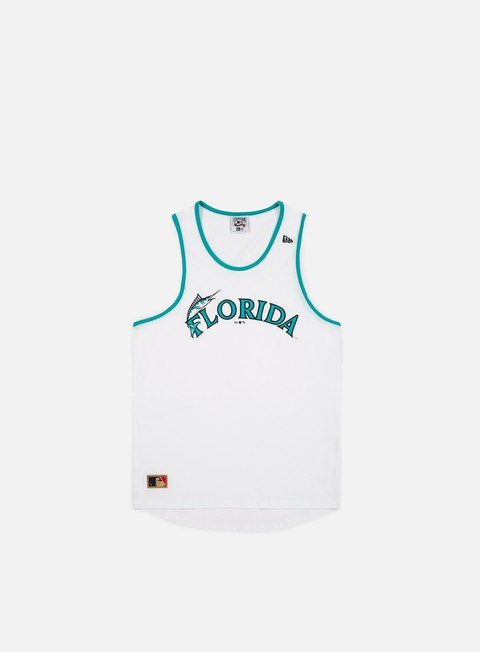 t shirt new era mlb coast 2 coast long tank florida marlins white