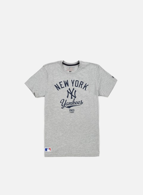t shirt new era mlb college t shirt ny yankees light grey heather