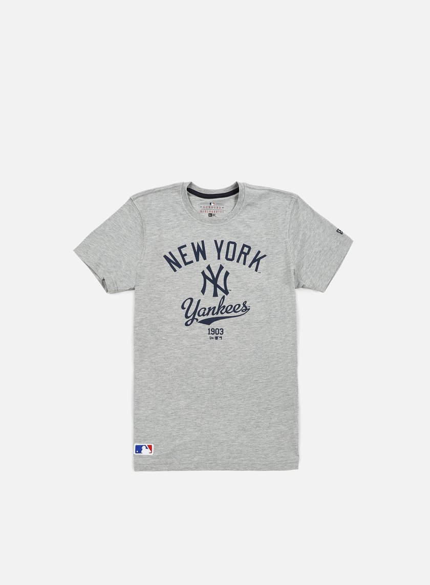 New Era - MLB College T-shirt NY Yankees, Light Grey Heather