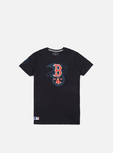 Short Sleeve T-shirts New Era MLB League T-shirt Boston Red Socks