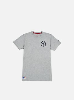 New Era - MLB Pop Bk Script T-shirt NY Yankees, Light Grey Heather 1