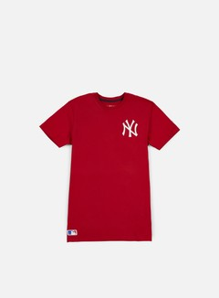New Era - MLB Pop Bk Script T-shirt NY Yankees, Scarlet 1