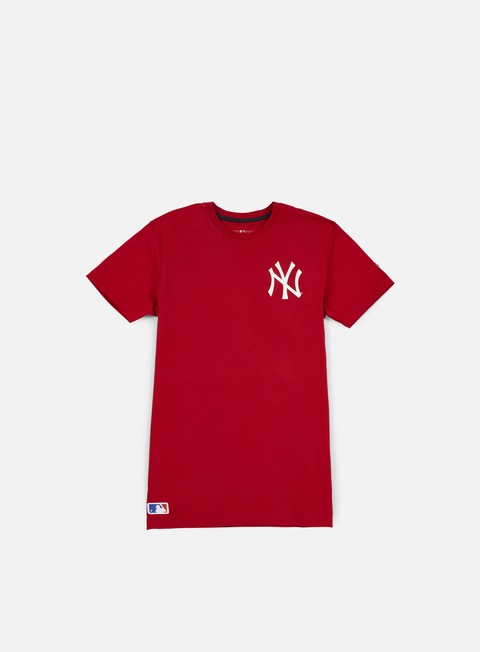 t shirt new era mlb pop bk script t shirt ny yankees scarlet