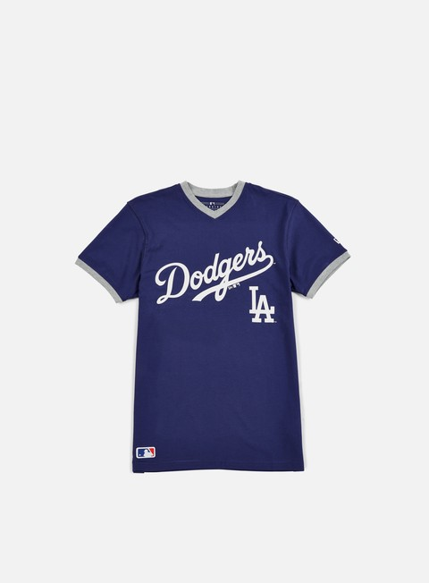 t shirt new era mlb ringer t shirt la dodgers dark royal