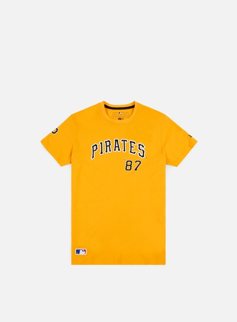 t shirt new era mlb script t shirt pittsburgh pirates yellow