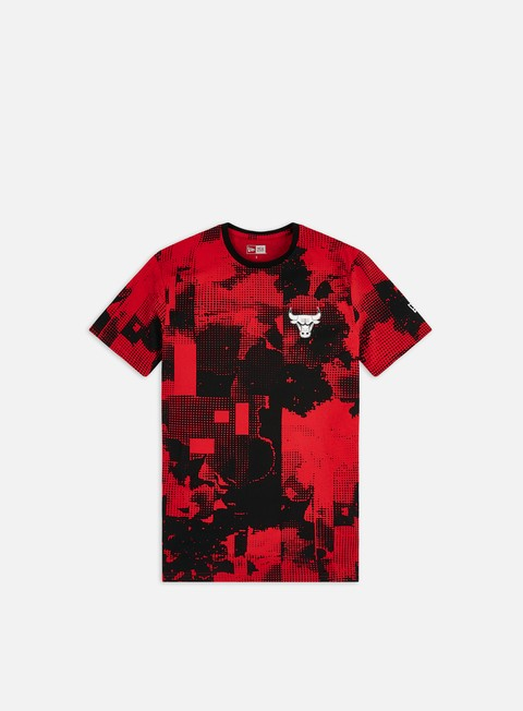 Sport Team T-shirts New Era NBA All Over Error Print T-shirt Chicago Bulls