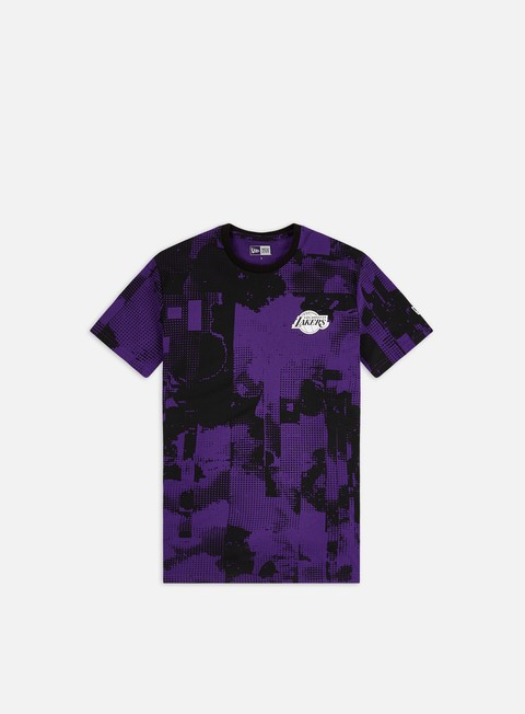 New Era NBA All Over Error Print T-shirt LA Lakers