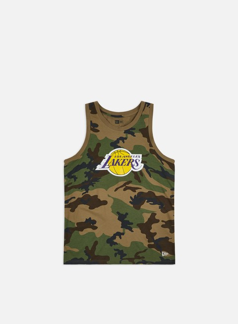 Sport Team T-shirts New Era NBA Camo Tank LA Lakers
