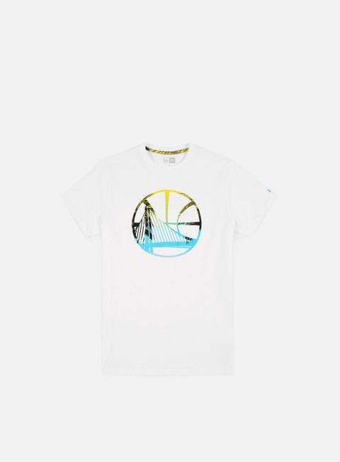 t shirt new era nba coastal heat infill t shirt golden state warriors white