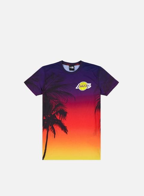 Outlet e Saldi T-shirt a Manica Corta New Era NBA Coastal Heat T-shirt LA Lakers