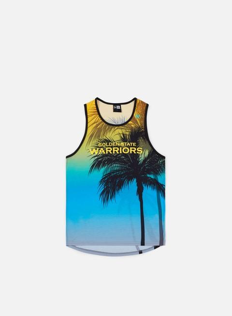 Canotte New Era NBA Coastal Heat Tank Golden State Warriors