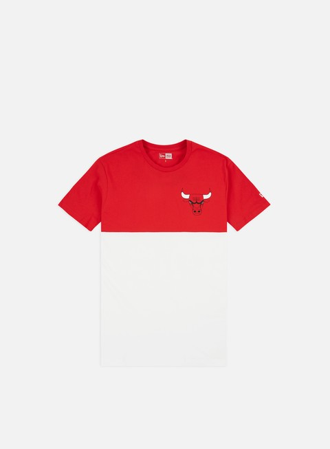 Outlet e Saldi T-shirt a Manica Corta New Era NBA Colour Block T-shirt Chicago Bulls