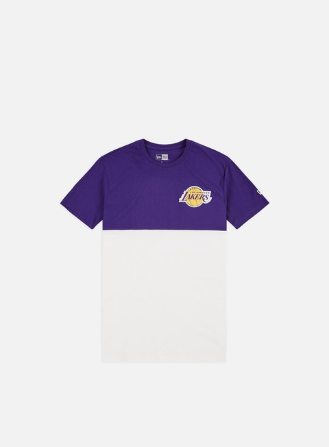 Short Sleeve T-shirts New Era NBA Colour Block T-shirt LA Lakers
