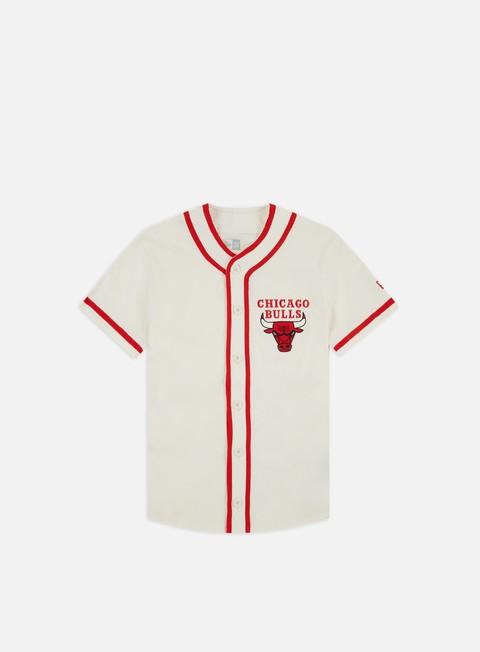 T-shirt a manica corta New Era NBA Piping Button Up Jersey Chicago Bulls