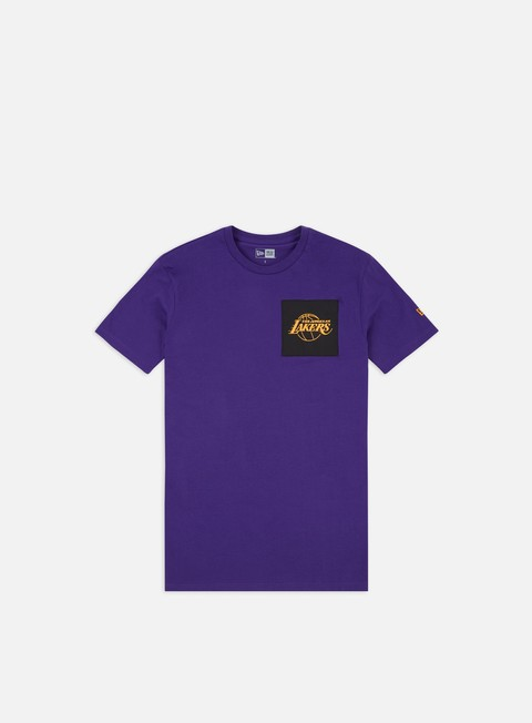 Short Sleeve T-shirts New Era NBA Square Logo T-shirt LA Lakers