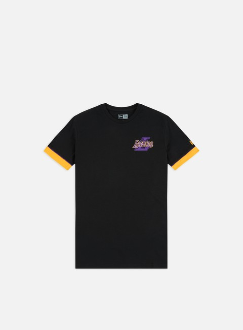 Outlet e Saldi T-shirt a Manica Corta New Era NBA Stripe Piping T-shirt LA Lakers