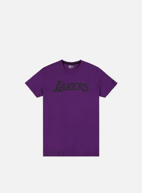 t shirt new era nba team pop logo t shirt la lakers purple