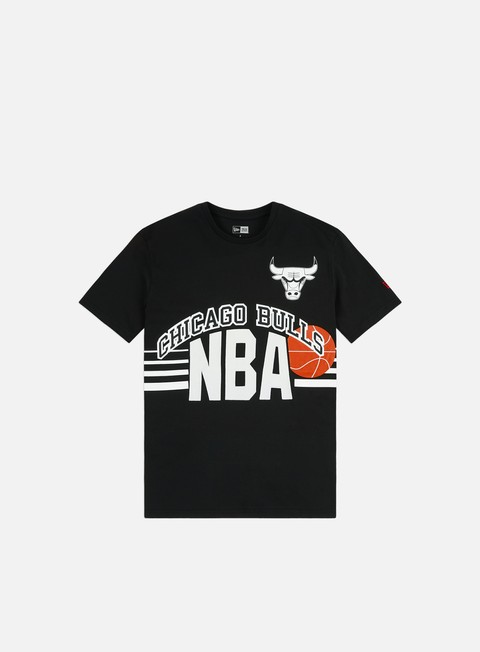 Outlet e Saldi T-shirt a Manica Corta New Era NBA Throw Back T-shirt Chicago Bulls