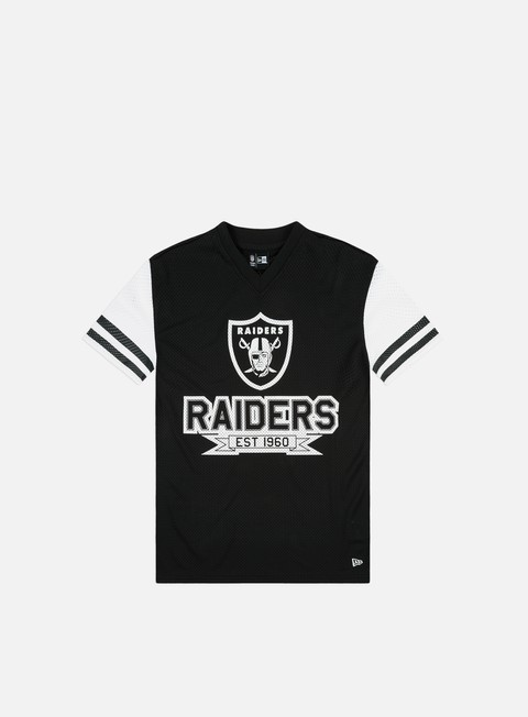 Short Sleeve T-shirts New Era NFL Contrast Sleeve Oversized T-shirt Oakland Raiders