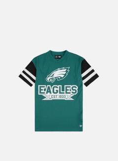 New Era NFL Contrast Sleeve Oversized T-shirt Philadelphia Eagles