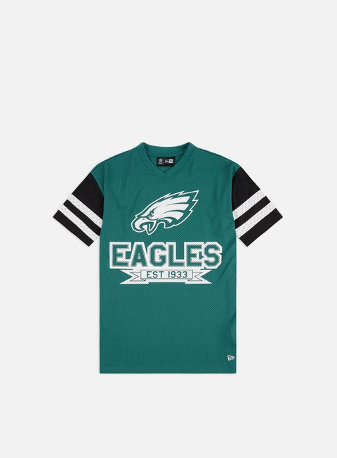 Short Sleeve T-shirts New Era NFL Contrast Sleeve Oversized T-shirt Philadelphia Eagles