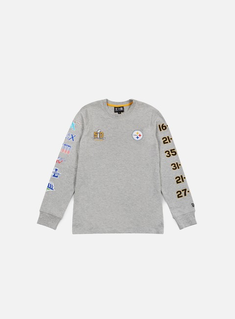 t shirt new era super bowl 50 long sleeves t shirt pittsburgh steeelers light grey heather