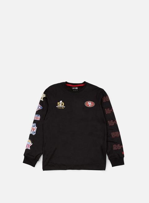 t shirt new era super bowl 50 long sleeves t shirt san francisco 49ers black