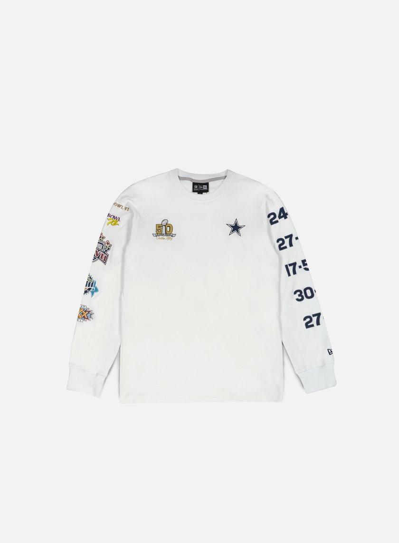 New Era - Super Bowl 50 LS T-shirt Dallas Cowboys, White
