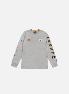 New Era - Super Bowl 50 LS T-shirt Pittsburgh Steeelers, Light Grey Heather 1