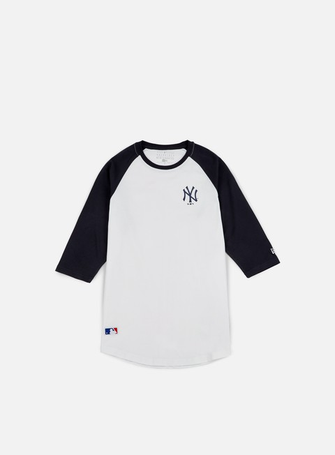 t shirt new era ta 3 4 raglan t shirt ny yankees white