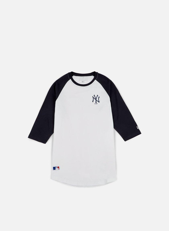 New Era - TA 3/4 Raglan T-shirt NY Yankees, White