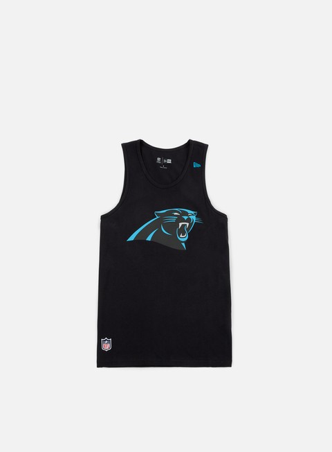 t shirt new era team app logo tank carolina panthers black