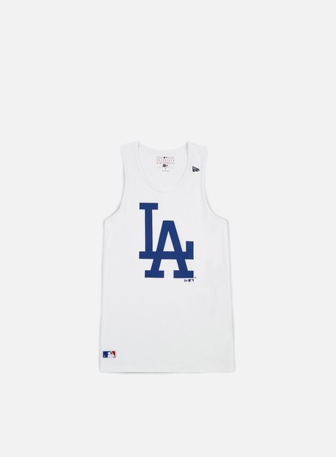 t shirt new era team app logo tank la dodgers white