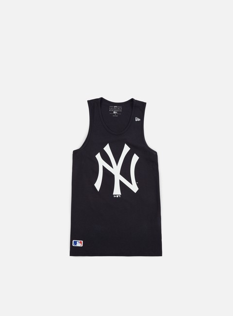 t shirt new era team app logo tank ny yankees navy