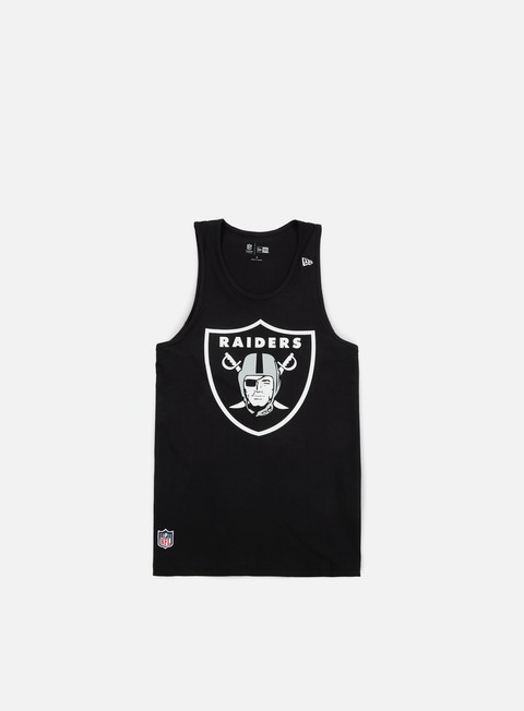 t shirt new era team app logo tank oakland raiders black