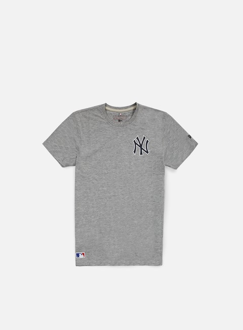 t shirt new era team banner t shirt ny yankees light grey heather