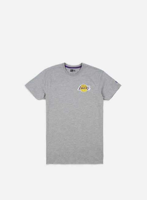 t shirt new era tip off chest n back t shirt la lakers light grey heather