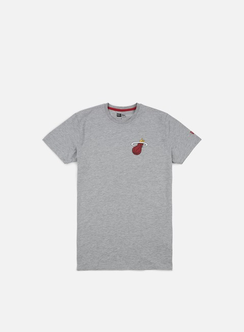 t shirt new era tip off chest n back t shirt miami heat light grey heather