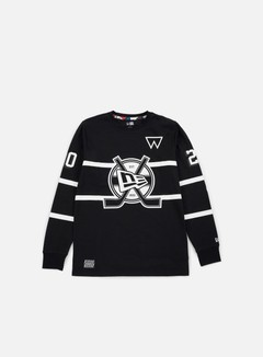 New Era - Walala LS Hockey T-shirt, Black