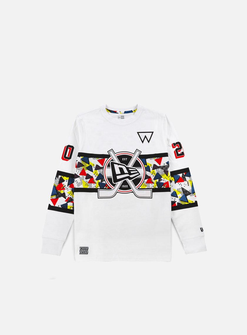 New Era - Walala LS Hockey T-shirt, White