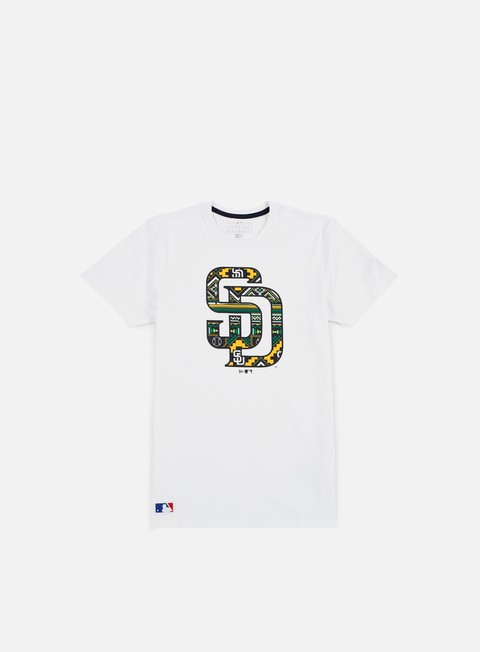 Sport Team T-shirts New Era West Coast Logo T-shirt San Diego Padres,White