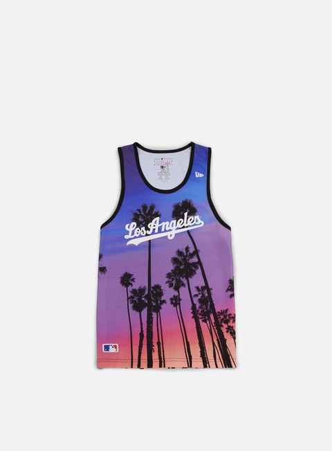 t shirt new era west coast tank top la dodgers multicolor