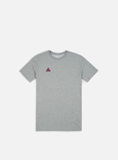 t shirt nike acg cltr t shirt dark grey heather hyper magenta