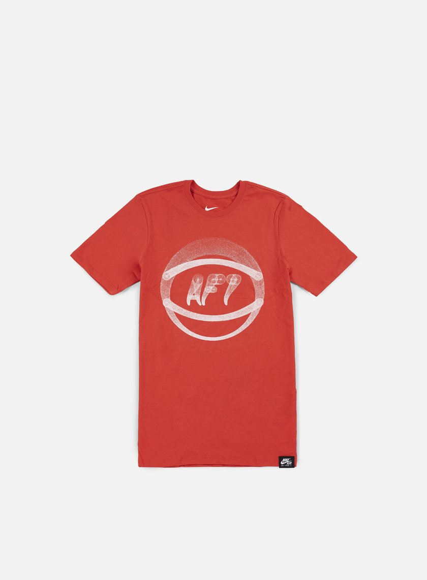 Nike - AF1 Ball Art T-shirt, Light Crimson/White