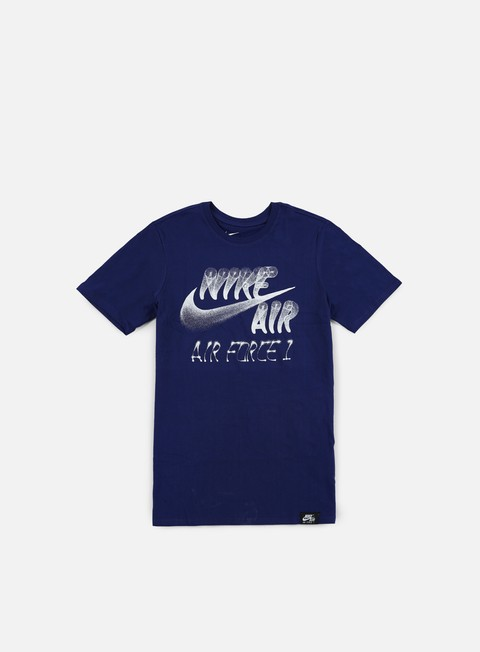 t shirt nike af1 nike air t shirt deep royal blue white